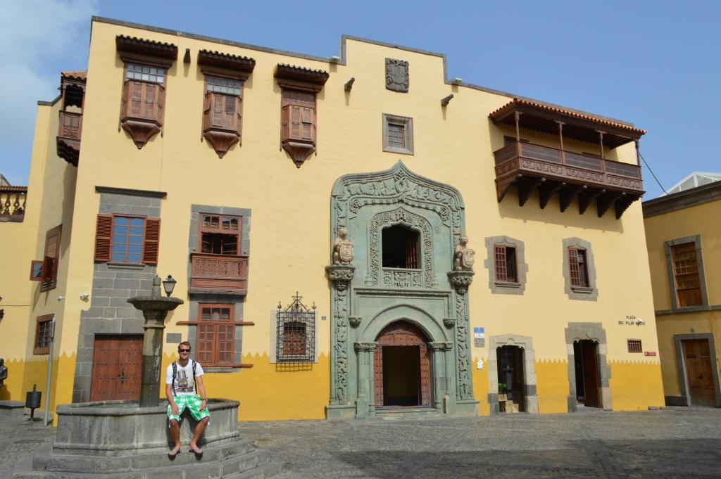 Het huis van Columbus in Las Palmas