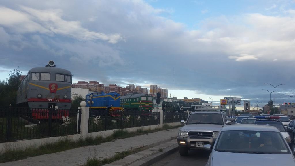 Het verkeer in Ulaanbaatar