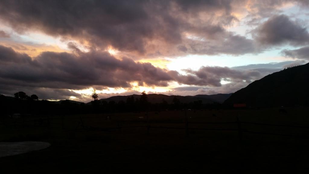 Sunset in Terelj National Park