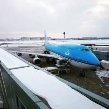 KLM vliegtuig geland in Toronto