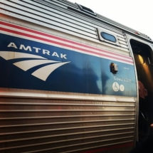 Amtrak 'Maple Leaf' trein vanuit Niagara Falls richting Toronto