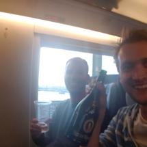 Per trein naar huis